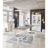 Stuhl aus weißem Metall und Mangoholz Multipl's