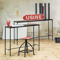 Table console indus en métal noire L 90 cm Edison