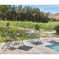 Table De Jardin Pliante En Métal Blanc 2 Personnes L70 Guinguette