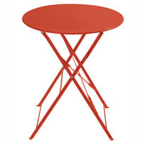Table de jardin pliante en métal rouge framboise Confetti   Maisons ...