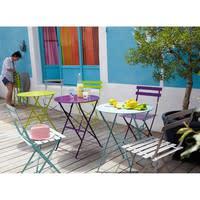 Table de jardin pliante en métal taupe D58 Guinguette | Maisons du Monde