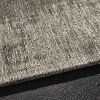Tapis en coton gris 200 x 290 cm Feel