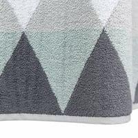 Telo bagno grigio in cotone 50 x 100 cm Triangle