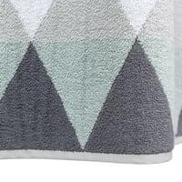 Telo da bagno grigio in cotone 70 x 140 cm Triangle