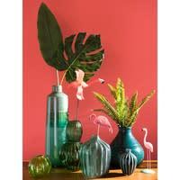 Vase boule en terre cuite verte H20