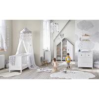 Weißer Baumwoll-Knotenvorhang, 102x250 Étoile