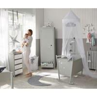 Weißer Betthimmel für Kinderbett, Pastel
