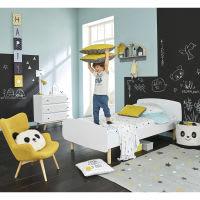 White Bed 90 x 190 cm Nuage