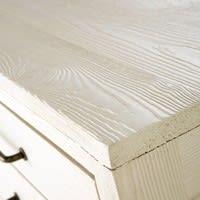 White Recycled Pine 2-Door 3-Drawer Sideboard Sarzeau