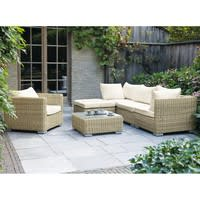 Wicker garden sofa corner unit St Raphaël