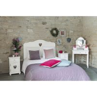 Wit houten nachtkastje met lade B40 Valentine