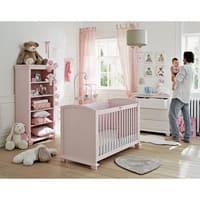 Wit/roze pluchen  knuffelkonijn H40 Bunny