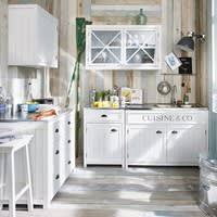 Wooden Kitchen Base Unit in White W90 Newport