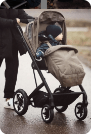 Stroller - Cubex Virtual Talos S Lux Stroller and Aton 2 Car Seat Deep Black