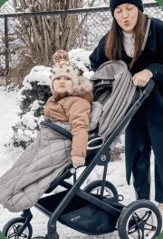 Person - Cubex Virtual Talos S Lux Stroller and Aton 2 Car Seat Deep Black