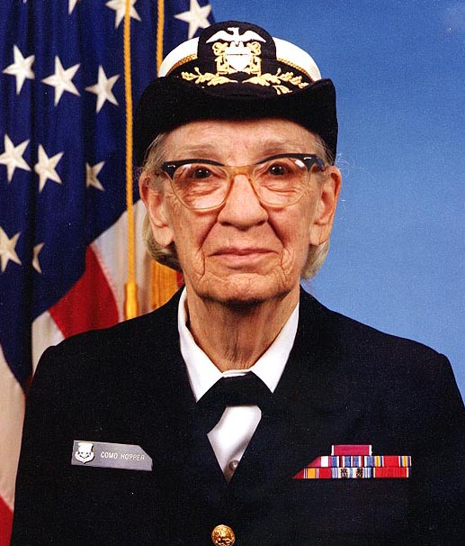 Commodore Grace M. Hopper, USNR Official portrait photograph | Naval History and Heritage Command