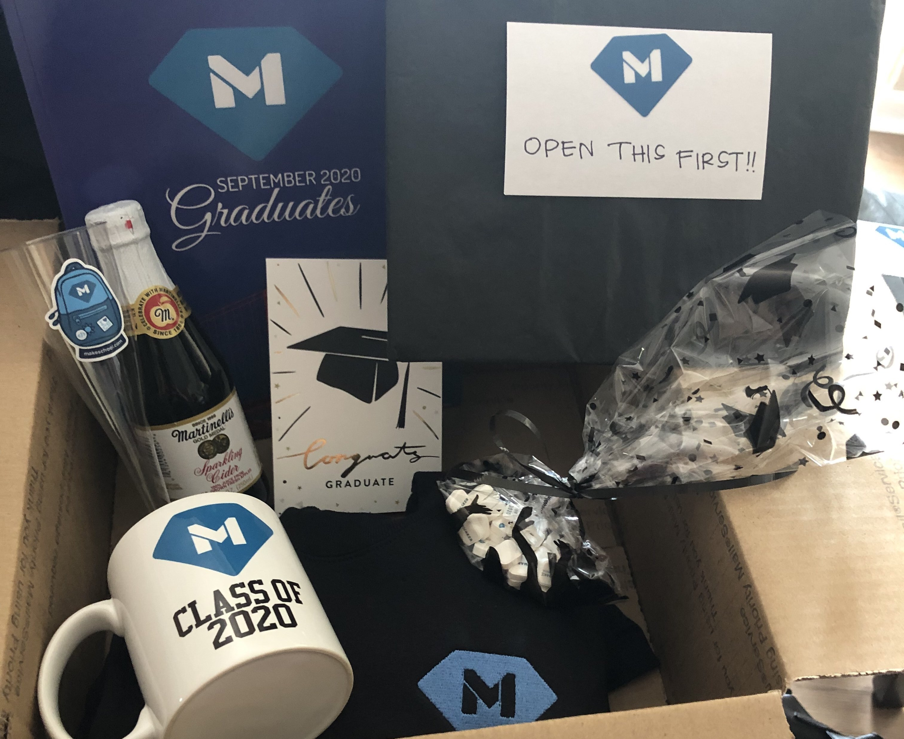 Image of the gift from Make School to each graduate