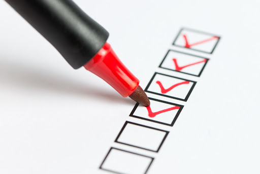 Image of checklist with a pen