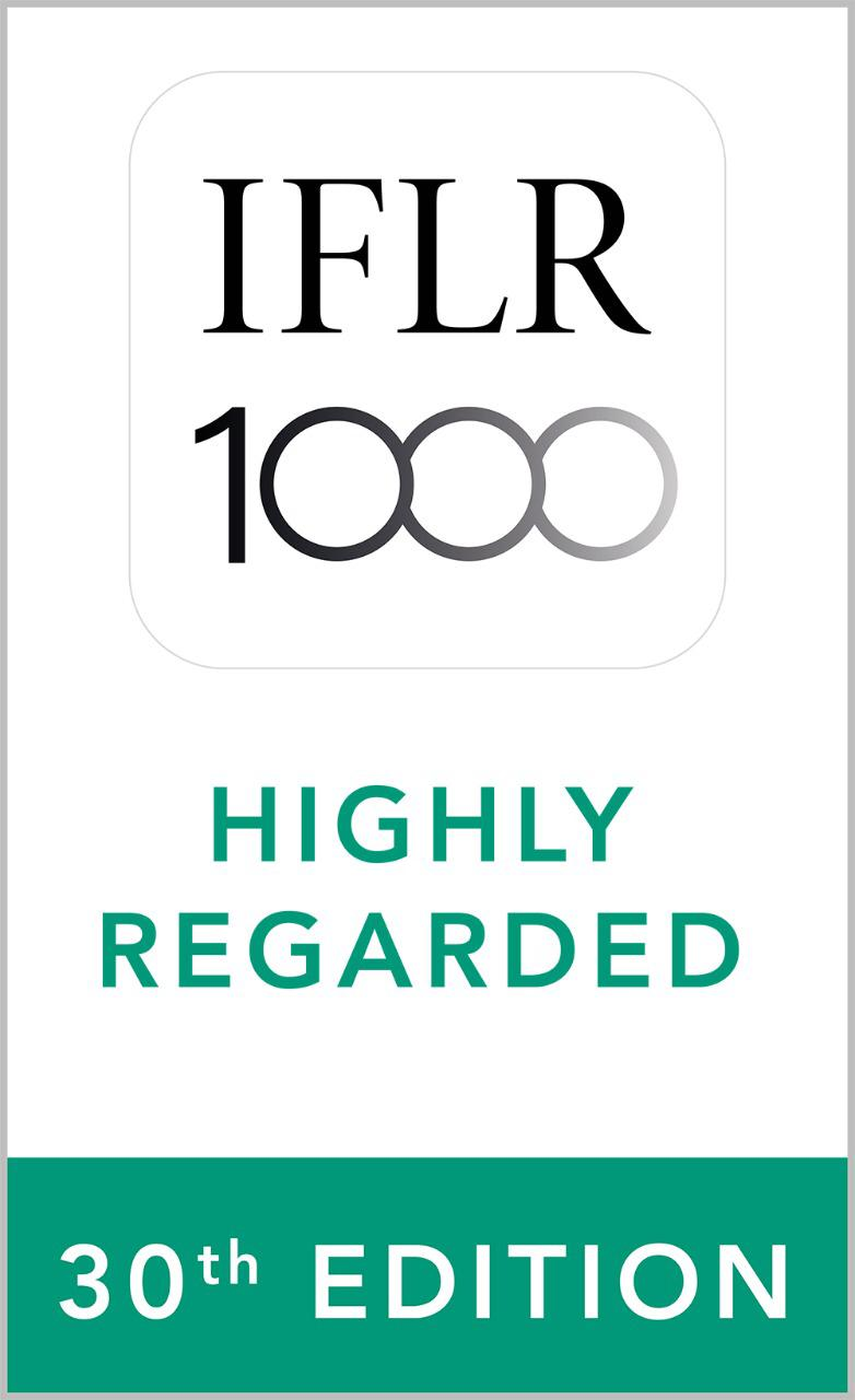 Top Tier Firm IFLR 30th Edition Highly Regarded
