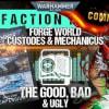 Warhammer Faction Focus: Forge World Adeptus Custodes & Adeptus Mechanicus Review
