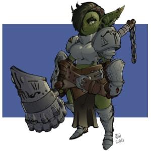Goblin Paladin by SZ_Draws