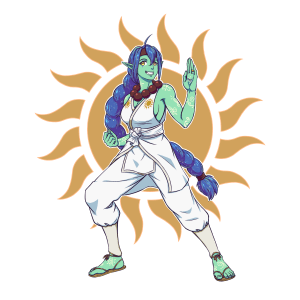 Ishtar, Half-Orc Monk