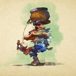 Bunch, Rock Gnome Monk and Bar Keeper