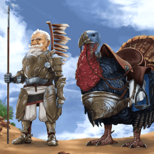 Harland the Paladin and Drumstick