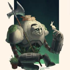 Monty, Warforged Rune Knight Fighter