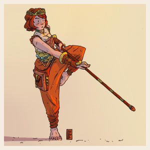 Jacinth Serpentine, Half-Elf Reborn Monk