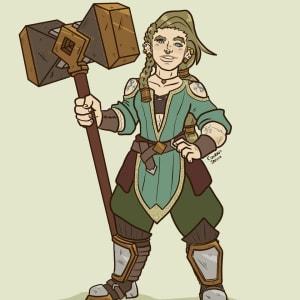 Edna Bronzehammer, Dwarf Hexblade