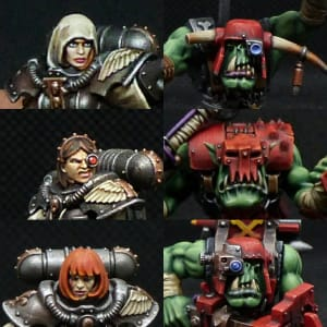 Sister/Ork Faces