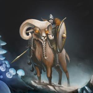 Mounted Paladin on Celestial Ram