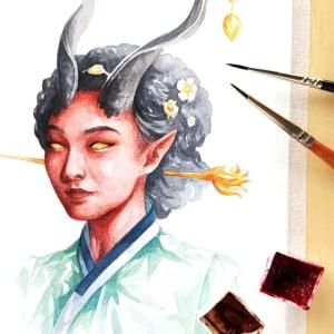 Korean Gisaeng Inspired Tiefling