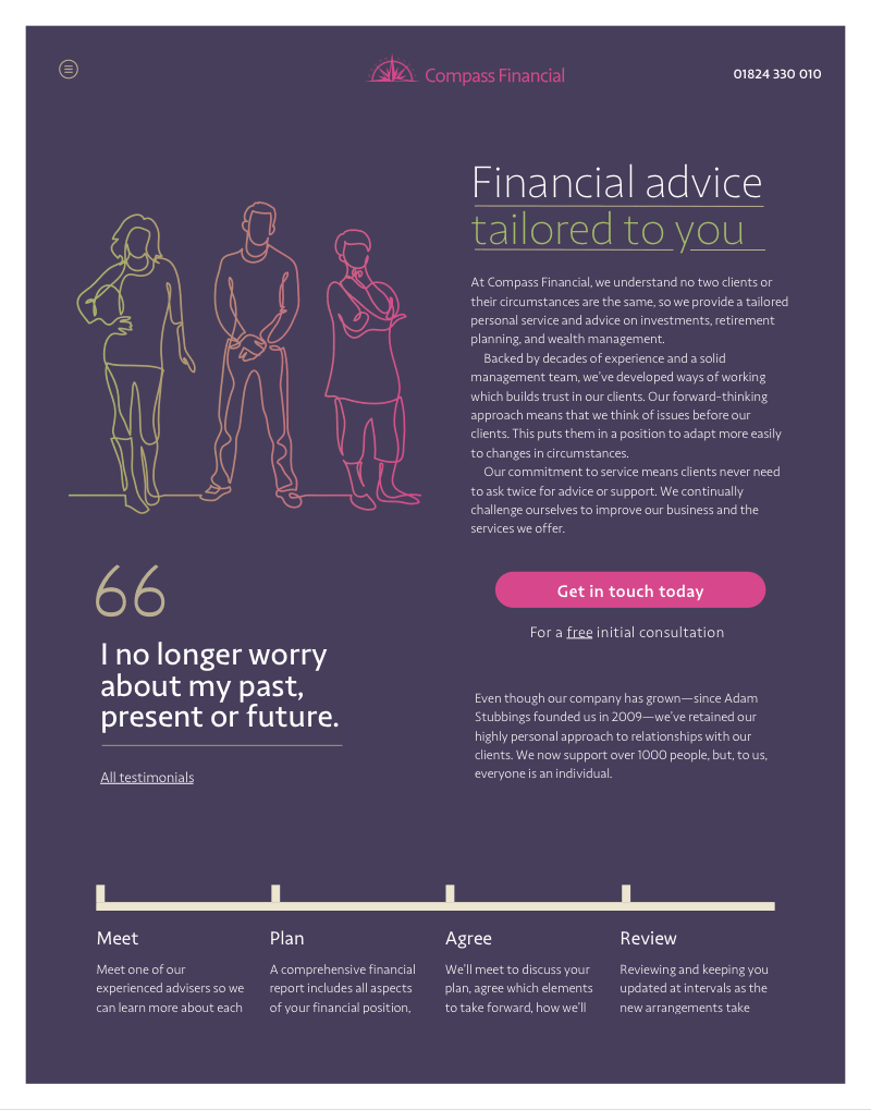 Compass Financial page design