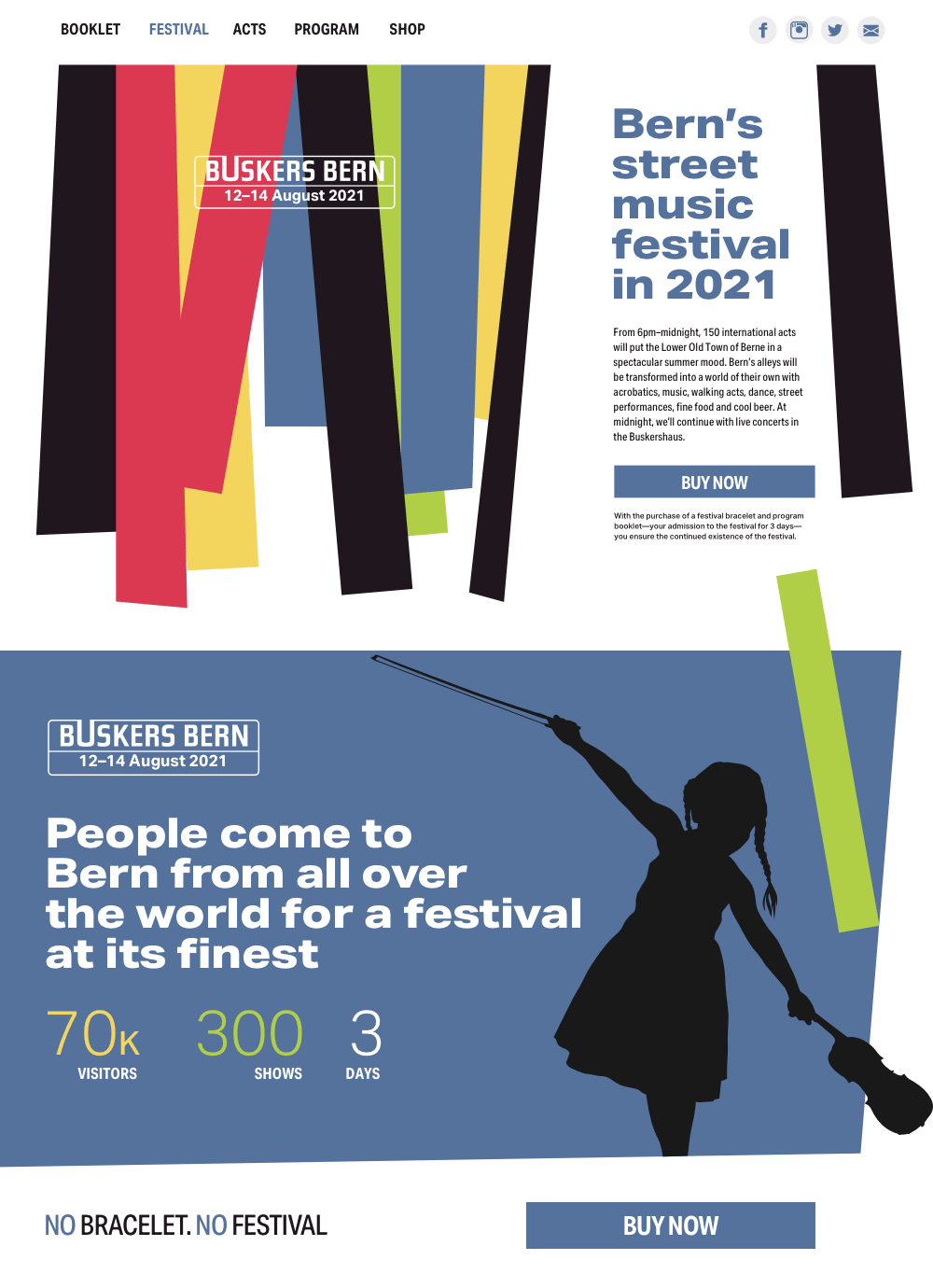 Buskers Bern page design