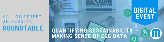 mallowstreet University Digital Roundtable: Quantifying Sustainability - Making Sense of ESG Data