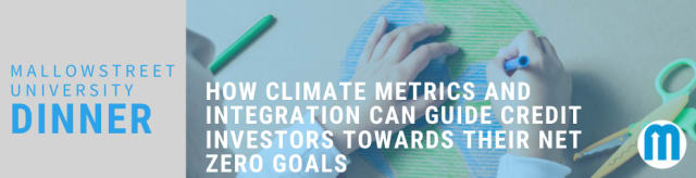 mallowstreet University Dinner: How Climate Metrics and Integration can Guide Credit Investors Towards their Net Zero Goals
