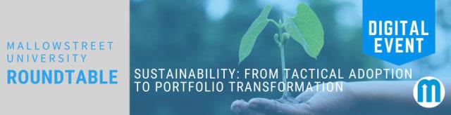 mallowstreet University Digital Roundtable - Sustainability: from tactical adoption to portfolio transformation