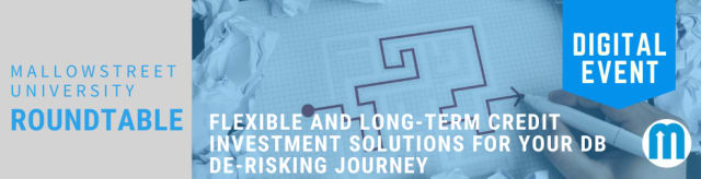 mallowstreet University Digital Roundtable (AM): Flexible and Long-term Credit Investment Solutions for your DB De-risking Journey
