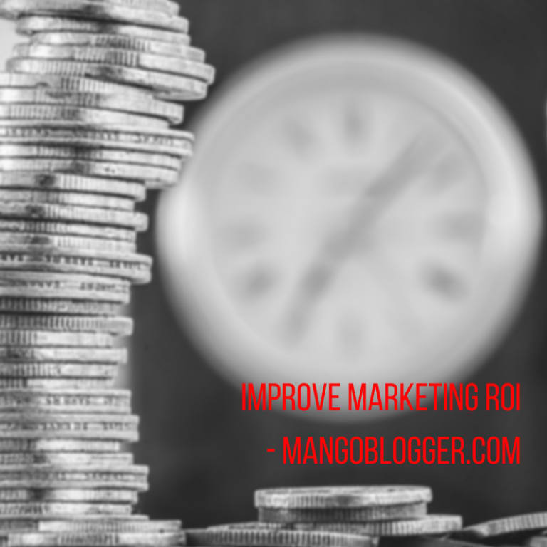 MangoBlogger helps in improving your marketing ROI with time