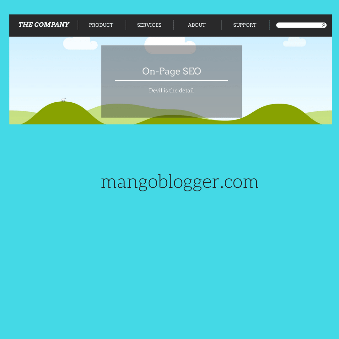 On-page SEO for mangoblogger