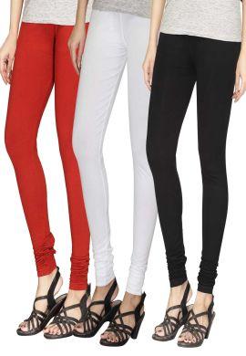 Manini Red White Black Cotton Leggings