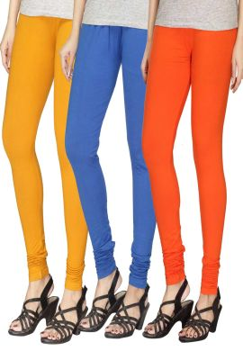 Manini Yellow Blue And Orange Cotton Leggings