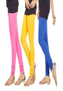 Manini Pink Yellow Blue Cotton Leggings