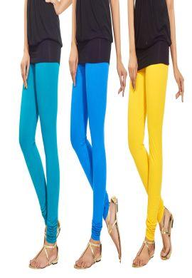 Manini Blue Yellow Cotton Leggings