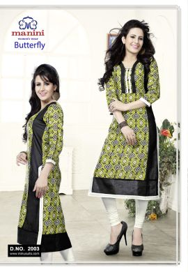 Manini Green Cotton Kurti