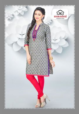 Manini Grey Cotton Kurti