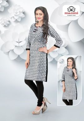 Manini White Cotton Kurti