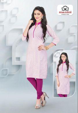 Manini Pink Cotton Kurti